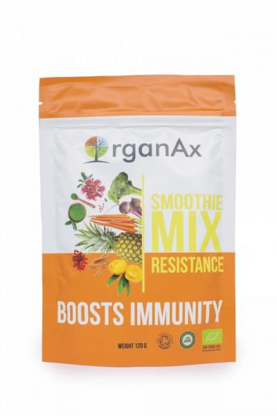 Poze Smoothie Mix, Resistance, iarba de orz, spirulina si iarba de grau, OrganaAx, 120 g