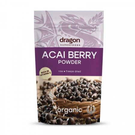 Poze Acai pulbere raw eco Dragon Superfoods 75g