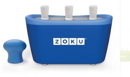 Poze Aparat pentru preparat inghetata instant cu 3 incinte Zoku ZK101-BL Albastru