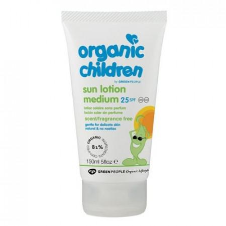 Poze Lotiune organica pentru copii protectie solara fara miros SPF25 Green People 150ml