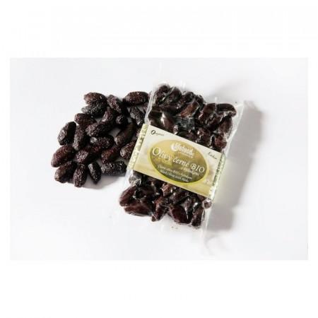 Poze Masline negre Botija cu samburi si ierburi raw bio 150g