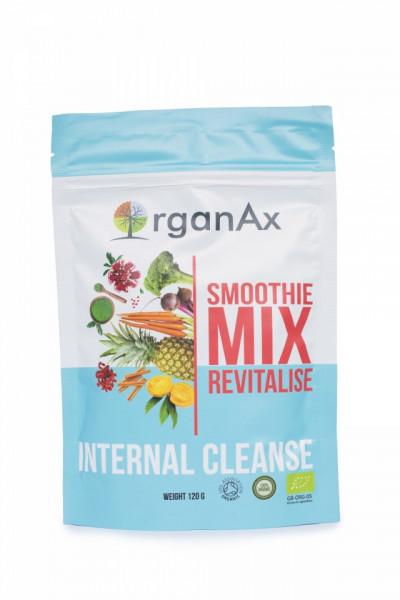 Poze Smoothie Mix, Revitalise Detox, iarba de orz, spirulina, iarba de grau si chlorella, OrganAx, 120 g