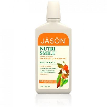 Poze Apa de gura organica cu portocale, scortisoara si menta pt prevenirea tartrului si cariilor Jason 473ml