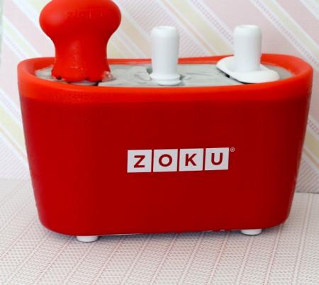 Poze Aparat pentru preparat inghetata instant cu 3 incinte Zoku ZK101-RD Rosu