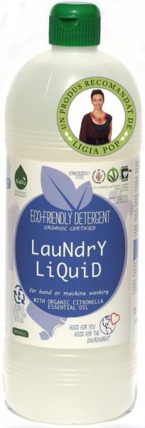 Poze Detergent ecologic lichid pentru rufe albe si colorate lamaie Biolu 1L