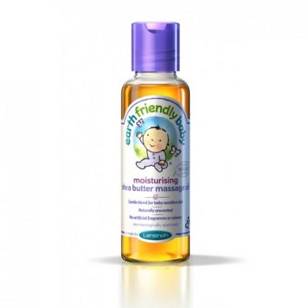 Poze Ulei de masaj organic fara parfum, cu unt de shea, Earth Friendly Baby 125ml
