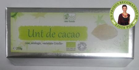 Poze Unt de cacao raw bio 250g- Recomandat de Ligia Pop