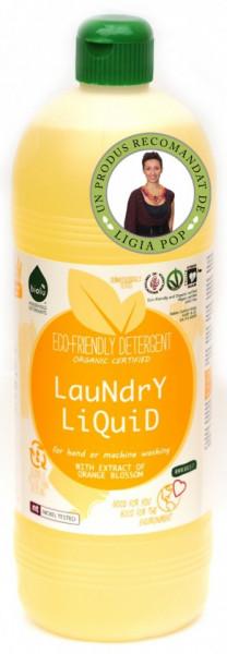 Poze Detergent ecologic lichid pentru rufe albe si colorate portocale Biolu 1L