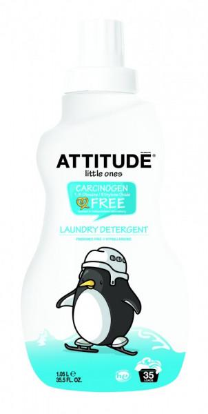 Poze Detergent lichid bio pentru rufele bebelusilor fara parfum Attitude 1050 ml 35spalari