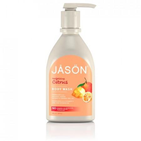 Poze Gel de dus organic satinat, cu citrice, 900ml, Jason