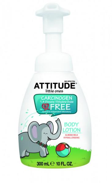Poze Lotiune bio de corp cu lapte de migdale pentru copii Attitude 300 ml