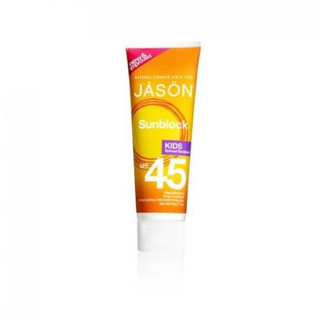 Poze Lotiune protectie solara organica, SPF 45 pentru copii Jason JAS9 113g