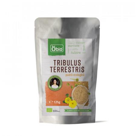 Poze Tribulus Terrestris pulbere BIO 125 G- Produs recomandat de Ligia Pop