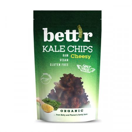 Poze Chips din kale cu aroma de branza raw eco 30g Bettr