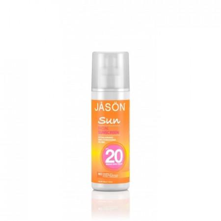 Poze Crema organica protectie solara pt. fata SPF 20, Jason 128g