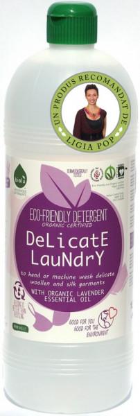 Poze Detergent ecologic lichid pentru rufe delicate Biolu 1L