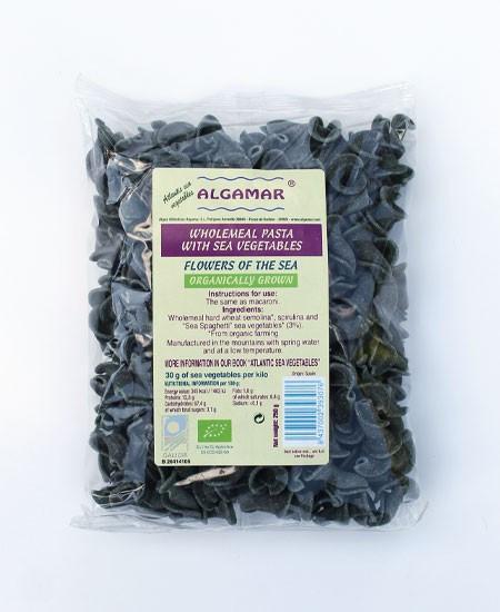 "Poze Paste integrale cu alge marine bio ""Flowers of the sea"" Algamar 250g"