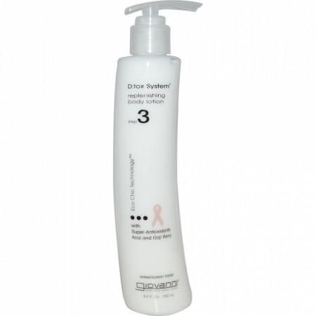 Poze Pasul 3: Crema hidratanta de corp Giovanni DTox cu antioxidanti, 250 ml