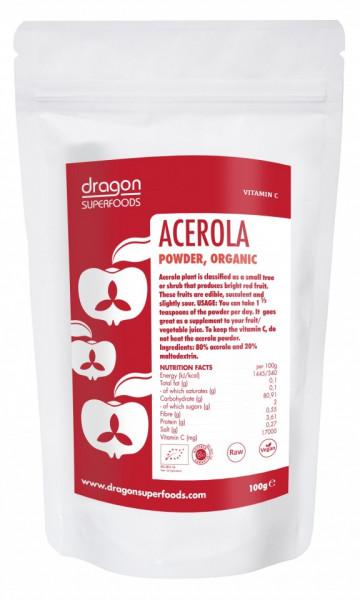Poze Acerola pulbere bio Dragon Superfoods 75g
