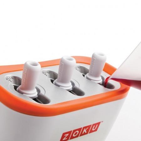 Poze Aparat pentru preparat inghetata instant cu 3 incinte Zoku ZK101-OR Portocaliu