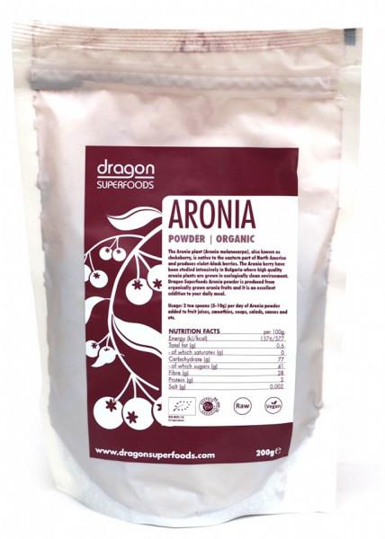 Poze Aronia pudra raw bio Dragon Superfoods 200g