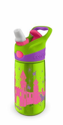 Poze Cana pentru copii cu pai Contigo Striker Autospout Chartreuse Green Castle 420 ml