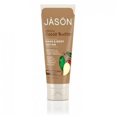 Poze Crema organica hidratanta cu unt de cacao pt maini si corp, 227g, Jason