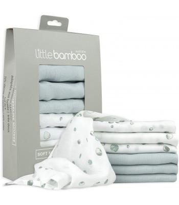 "Poze Muselina din bambus organic ""Baby Wash"" Little Bamboo - 6 buc (30*30 cm)"