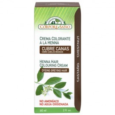 Poze Vopsea henna crema, semipermanenta, Corpore Sano - Castaniu 60ml