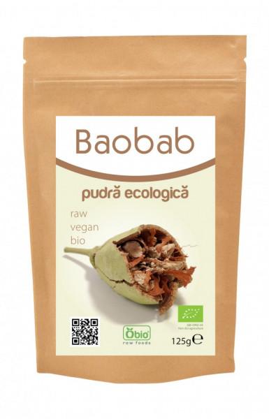 Poze Baobab pulbere raw bio 125g- Recomandat de Ligia Pop