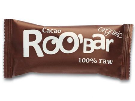 Poze Baton raw bio cu cacao Roo'Bar 50g
