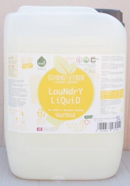 Poze Biolu Detergent ecologic lichid pentru rufe albe si colorate portocale 5L