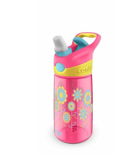 Poze Cana pentru copii Contigo Striker Autospout Cherry Pink Flowers 420 ml