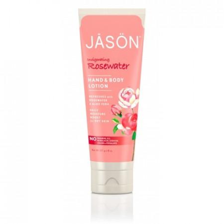 Poze Crema organica cu trandafiri, pt maini si corp, 227g, Jason