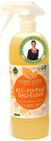 Poze Detergent ecologic universal pentru toate suprafetele cu ulei de portocale 1L