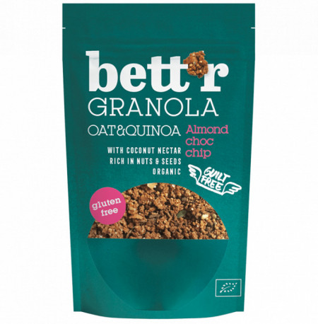 Poze Granola cu migdale si ciocolata fara gluten eco 300g Bettr
