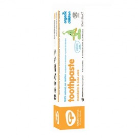 Poze Pasta de dinti cu mandarina si aloe pentru bebelusi, homeopata, Green People 50ml