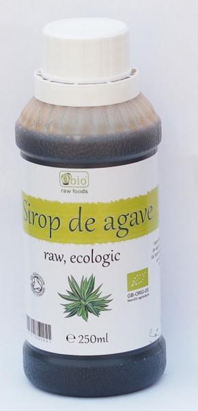 Poze Sirop de agave raw brun (dark) certificat organic, 250ml