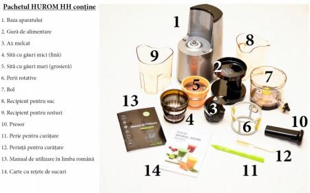 Poze Storcator Hurom Slow Juicer HH-WBE06,10Ani Garantie, Putere 150W, 70 Rotatii pe minut- Produs Original