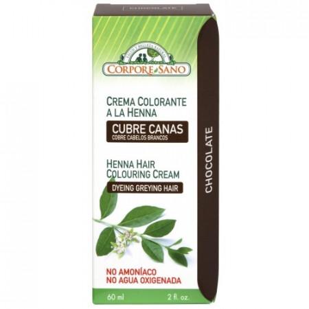 Poze Vopsea henna crema, semipermanenta, Corpore Sano - Ciocolata 60ml