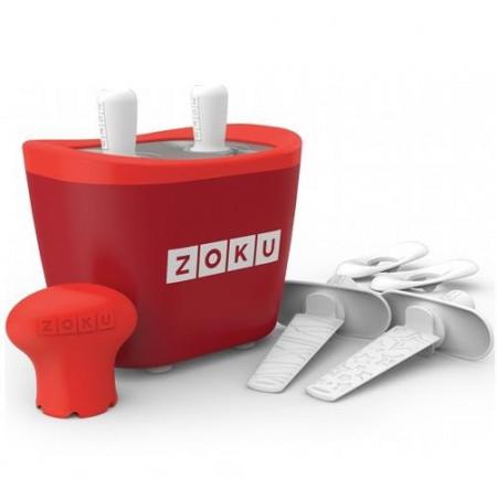 Poze Aparat pentru preparat inghetata instant cu 2 incinte Zoku ZK107-RD Rosu