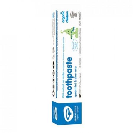 Poze Pasta de dinti cu menta si aloe vera organica pentru copii Green People 50ml