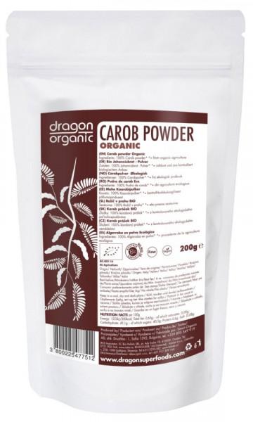 Poze Pudra de carob (roscove) bio Dragon Superfoods 200g