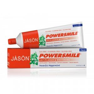 Pasta de dinti organica Power Smile, fara fluor, pt. albirea dintilor, 170 g. Jason