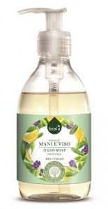 Sapun lichid ecologic antibacterian cu lavanda si Vitamina E 300ml pentru fata si maini