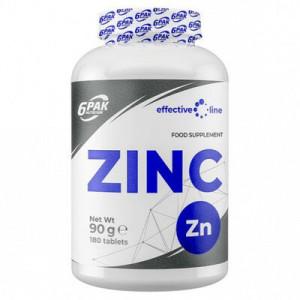 ZINC 15MG, 180 TABLETE, 6PAK NUTRITION