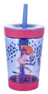 Pahar cu sistem autoblocare si pai pentru fetite Contigo Spill Proof Tumbler, 420ml -FREE BPA