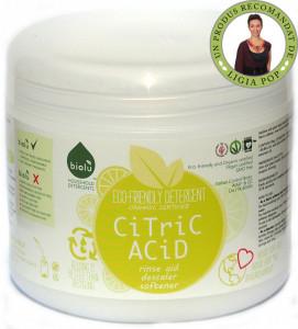 Acid citric ecologic pentru rufe Biolu 1kg