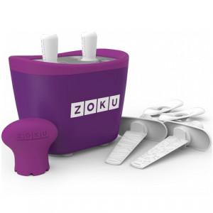 Aparat pentru preparat inghetata instant cu 2 incinte Zoku ZK107-PU Mov