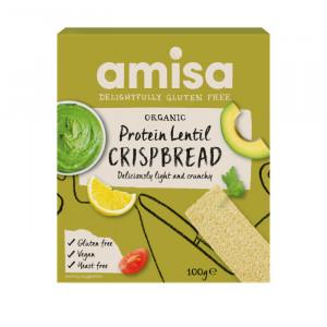 Crispbread (painici) proteice cu linte fara gluten eco 100g Amisa